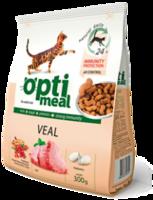 Optimeal корм для кошек с телятиной