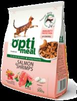 Optimeal корм для кошек с лососем и креветками