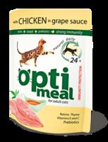 Optimeal для кошек с курицей в виноградном соусе