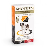 БИОРИТМ Витамины для собак крупных пород, 48 табл