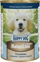 Happy Dog Щенки Нежная Телятина с печенью, сердцем и рисом