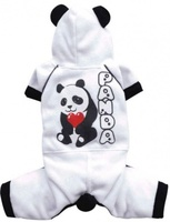 "Doggy Dolly Костюм ""Panda"", белый трикотаж, XXS"