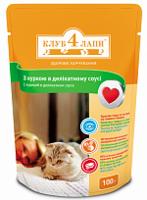 КЛУБ 4 ЛАПЫ для кошек с курицей