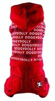 Спортивный костюм DoggyDolly 4 лапы красный, XS