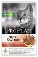 Pro Plan для стерилизованных кошек Говядина