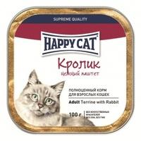 Happy Cat Паштет с кусочками Кролик
