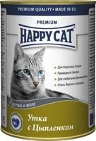 Happy Cat Кусочки в желе Утка Цыпленок