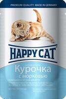 Happy Cat Кусочки в соусе для котят Курочка с морковью