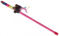Dezzie Игрушка для кошки Дразнилка Мышь-клоун 46см пластик (10шт/уп) - 1шт