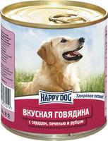 Happy Dog Вкусная говядина с сердцем, печенью, рубцом