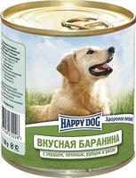 Happy Dog Вкусная Баранина с сердцем, печенью, рубцом и рисом