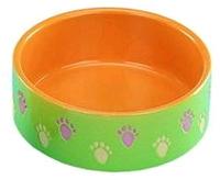 Nobby Миска керамика оранжево-зеленая, 15см
