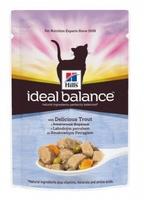 Hill's Ideal Balance для кошек с форелью и овощами