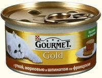 Gourmet Gold Кусочки в паштете Утка, Морковь, Шпинат
