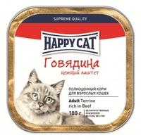 Happy Cat Паштет с кусочками Говядина