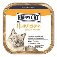 Happy Cat Паштет с кусочками Цыпленок