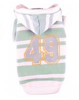 """Толстовка полосатая Doggy Dolly """"49"""", зелено-белая, S"""