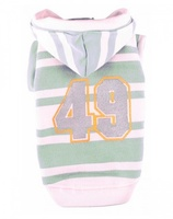 "Толстовка полосатая Doggy Dolly ""49"", зелено-белая, XL"