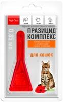 Празицид-комплекс капли для кошек на холку 4шт/уп