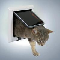 ТРИКСИ Дверца для кошки 15,8х14,7см, с 4 функциями белая