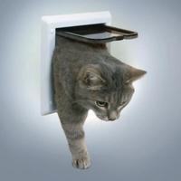 ТРИКСИ Дверца для кошки 16,5х17,4см, с2 функциями белая
