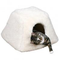"""Trixie Домик-лежак для кошки """"Fay"""" , 42х28х44см, иск. мех, белый"""