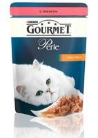 Gourmet Perle Мини-филе в подливе, лосось, для кошек