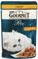 Gourmet Perle Мини-филе в подливе, курица, для кошек