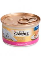 Gourmet Gold для кошек мусс с говядиной