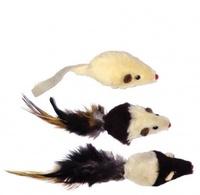 Dezzie Игрушка для кошки Мышь Престиж 5см и/мех (240шт/уп) 1шт