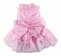 Платье Doggy Dolly свадебное, розовое, L