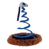"""Trixie Игрушка для кошки """"Мышь на пружине"""", 20 х 25 см"""