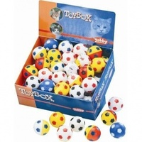 Nobby Игрушка д/кошек Мяч с бубенчиком, в ассортименте, 4см (42 шт)
