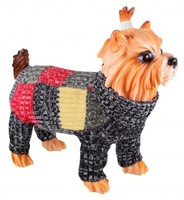 Dezzie Свитер для собак, 35см, черно-красный, акрил