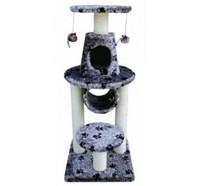 Fauna Int. Игровая площадка для кошек Bonalti, серый/лапки, 45*45*108 см