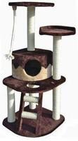 Fauna Int. Игровая площадка для кошек Almerich, бежево-коричневая, 50*50*121 см