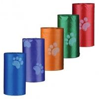 Trixie Пакеты для уборки за собаками, 3 л, 4 рулона по 20 шт, цветные, для всех диспенсеров.