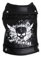 Куртка Doggy Dolly Heavy Metal черная кожаная, М