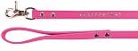 Dezzie Поводок для собак 1,5*120 см  бархат розовый